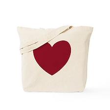 MAROON Heart 13 Tote Bag