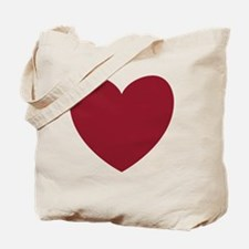 MAROON Heart 13 Tote Bag