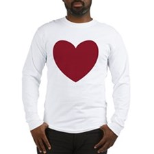 MAROON Heart 13 Long Sleeve T-Shirt