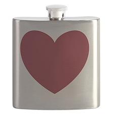 MAROON Heart 13 Flask
