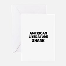 American Literature Shark Greeting Cards (Package