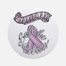 Healing Art Ribbon...Save the Boobies Ornament (Ro