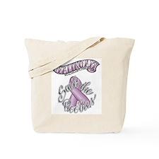Healing Art Ribbon...Save the Boobies Tote Bag