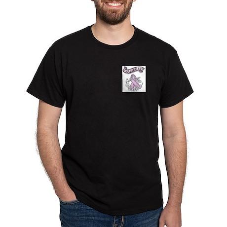 Healing Art Ribbon...Save the Boobies Dark T-Shirt
