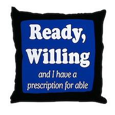 PRESCRIPTION FOR ABLE Throw Pillow