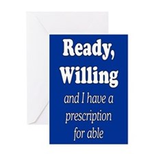 PRESCRIPTION FOR ABLE Greeting Card
