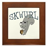 Silly Skwurl (squirrel) Framed Tile