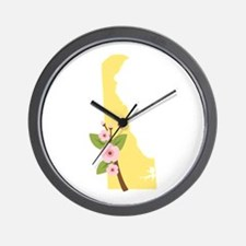 Delaware State Map Wall Clock