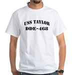USS TAYLOR White T-Shirt