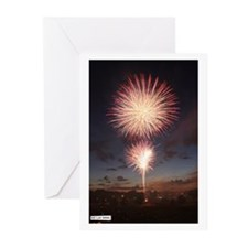 July 4 Fireworks  Greeting Cards (Pk of 10)