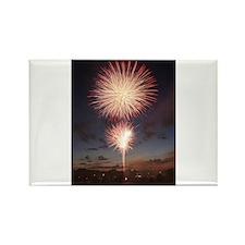 July 4 Fireworks Rectangle Magnet