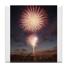 July 4 Fireworks  Tile Coaster
