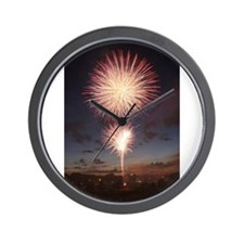 July 4 Fireworks  Wall Clock