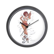 Metal Chick Tattoo Wall Clock