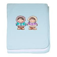 ESKIMO CHILDREN baby blanket