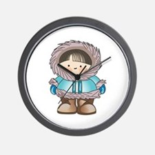 ESKIMO BOY Wall Clock