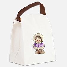 ESKIMO GIRL Canvas Lunch Bag