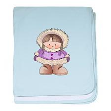 ESKIMO GIRL baby blanket