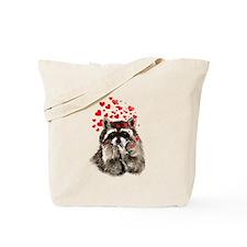 Raccoon Blowing Kisses Cute Animal Love Tote Bag