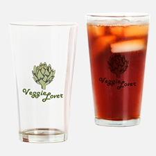 VEGGIE LOVER ARTICHOKE Drinking Glass