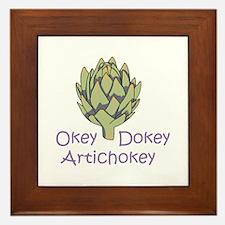 OKEY DOKEY ARTICHOKEY Framed Tile