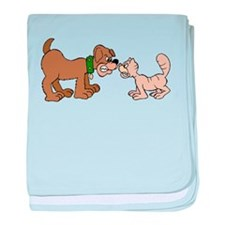 Dog And Cat baby blanket