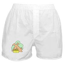 Dog And Bowl Boxer Shorts
