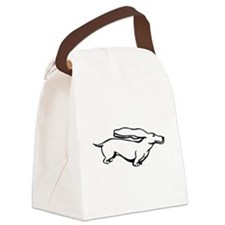 Weiner Dog Canvas Lunch Bag