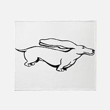Weiner Dog Throw Blanket
