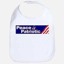 Peace is Patriotic Bib