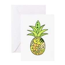 PAINTED PINEAPPLE Greeting Cards