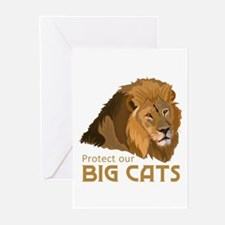 PROTECT OUR BIG CATS Greeting Cards