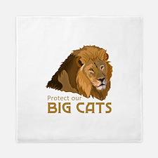 PROTECT OUR BIG CATS Queen Duvet
