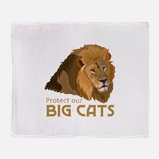 PROTECT OUR BIG CATS Throw Blanket
