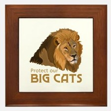 PROTECT OUR BIG CATS Framed Tile