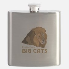 PROTECT OUR BIG CATS Flask