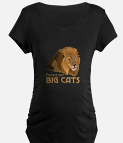 PROTECT OUR BIG CATS Maternity T-Shirt