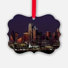 Dallas Skyline at Night Ornament