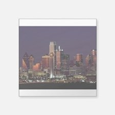 Dallas Skyline at Night Sticker