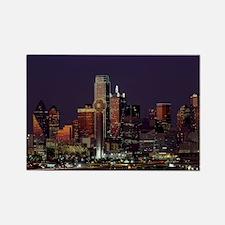 Dallas Skyline at Night Magnets