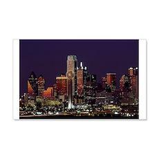 Dallas Skyline at Night Wall Decal