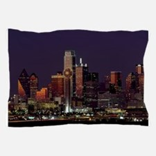 Dallas Skyline at Night Pillow Case