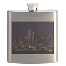 Dallas Skyline at Night Flask