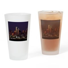 Dallas Skyline at Night Drinking Glass