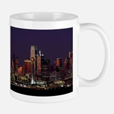 Dallas Skyline at Night Mugs