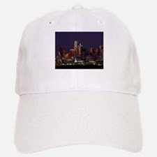Dallas Skyline at Night Baseball Baseball Baseball Cap