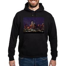 Dallas Skyline at Night Hoodie