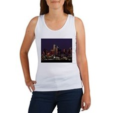Dallas Skyline at Night Tank Top