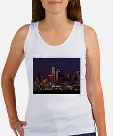 Dallas Skyline at Night Tank Top