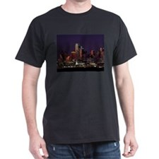 Dallas Skyline at Night T-Shirt
